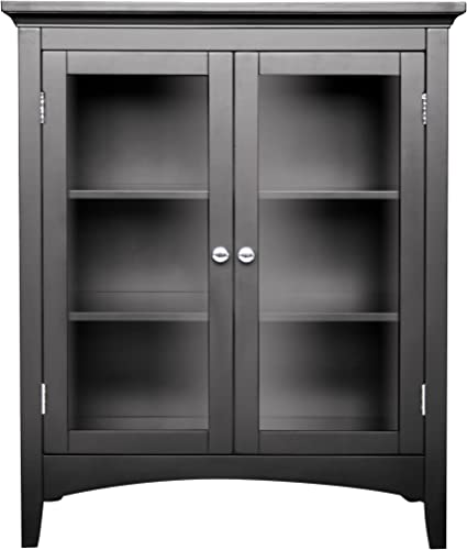 Sauder Shoal Creek Elise Display Cabinet, Moody Blue finish