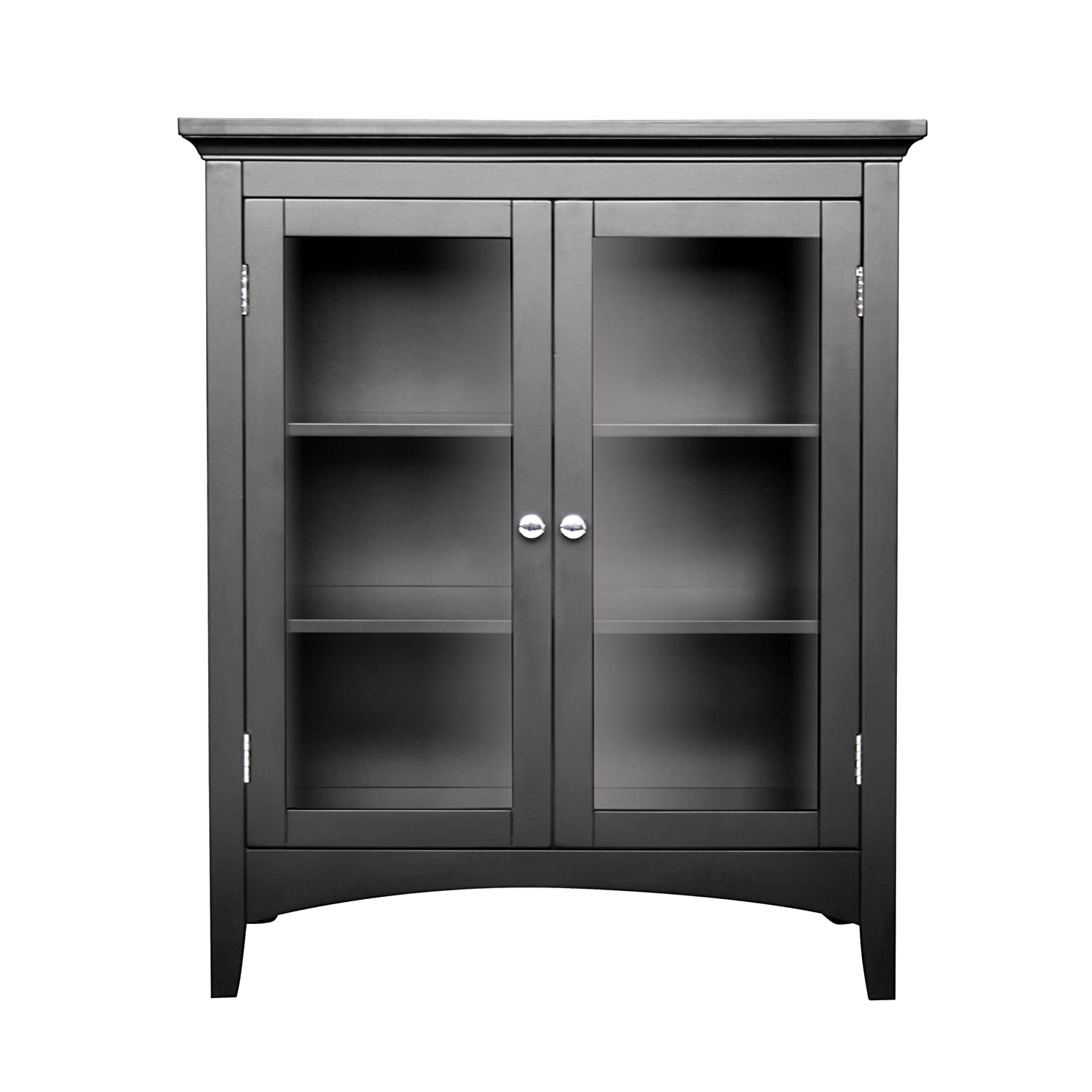 Attirant Amazon.com: Elegant Home Fashions 7633 Madison Double Floor Cabinet Dark  Espresso: Kitchen U0026 Dining