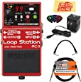 Boss RC-3 Loop Station Bundle with Power Supply, Instrument Cable, Patch Cable, Picks, and Austin Bazaar Polishing Cloth
