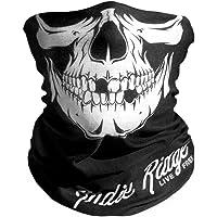 Indie Ridge Skull Motorcycle Face Mask Microfiber Multifunctional Headwear Motorcycle Riding, Ski, Snowboard Hiking Cycling Mask
