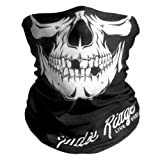 Skull Outdoor Face Mask By IndieRidge - Microfiber Polyester Multifunctional Seamless Headwear Ski Motorcycle Snowboard Cycling Hiking