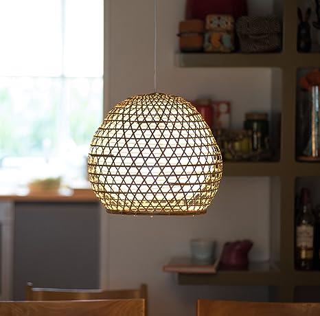 Lampenschirme aus Bambus Charly weiß verschiedene Größen Bambuslampen aus Bali