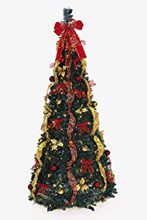 ben jonah let it snow collection 6 350lt pop up redgold - Pre Decorated Pop Up Christmas Trees