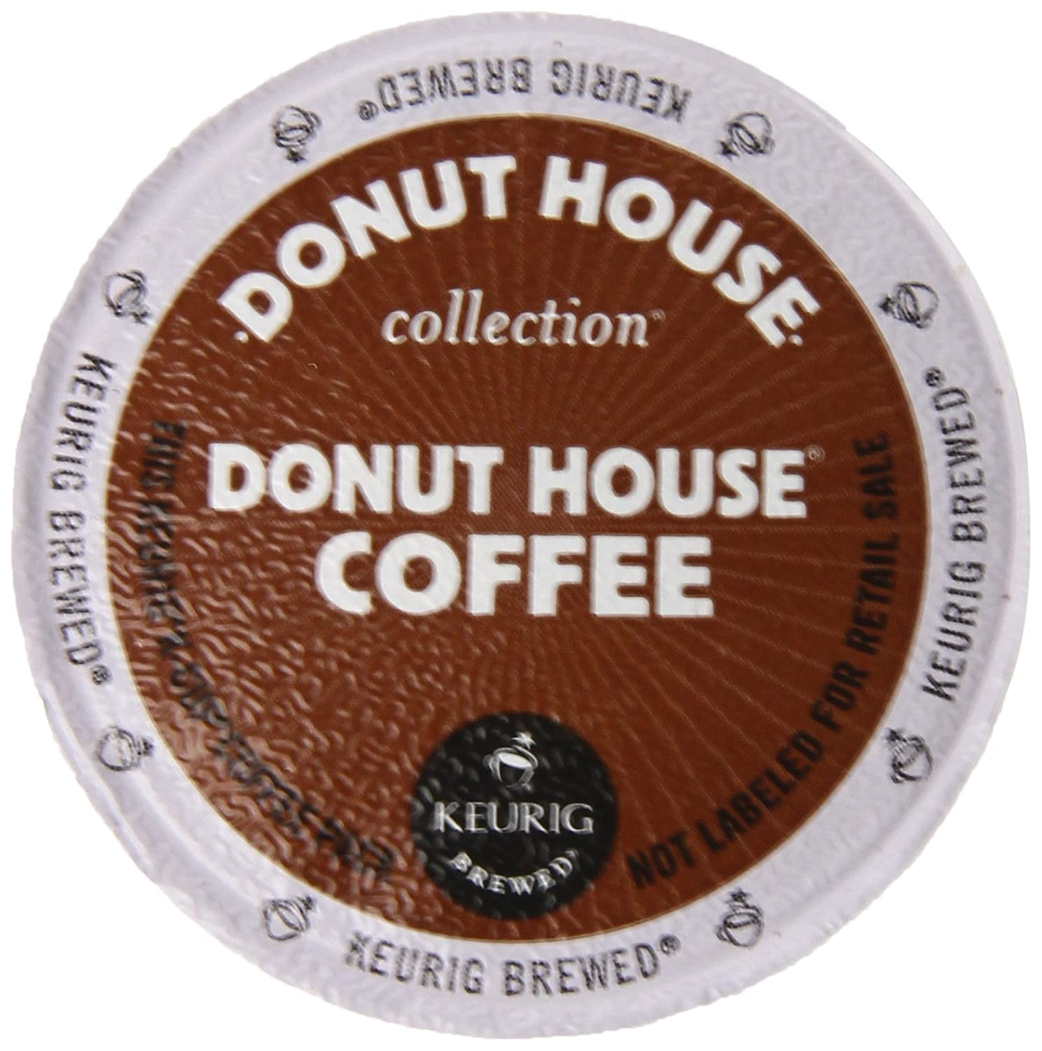 Donut House Coffee, K-Cup Portion Pack for Keurig K-Cup Brewers, Light Roast 12-Count