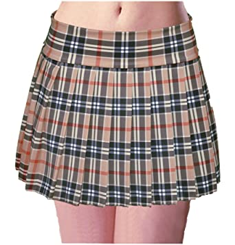 Tan Plaid Skirt