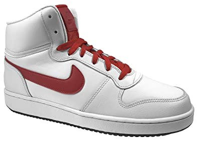 new product a6145 637d3 Nike Ebernon Mid, Chaussures de Basketball Homme, Multicolore (Off  University Red Black