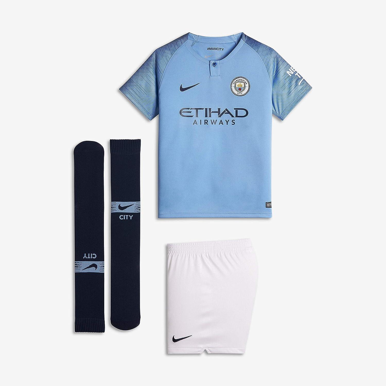 Azul Unisex Infantil Conjunto equipaci/ón Manchester City 18//19 Field Blue//Midnight Navy Nike MCFC LK NK BRT Kit HM