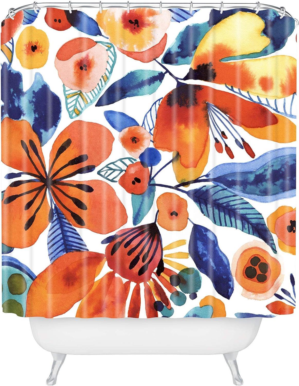Deny Designs Cayenablanca Azafran Orange 72x69 Curtain sale Shower Price reduction