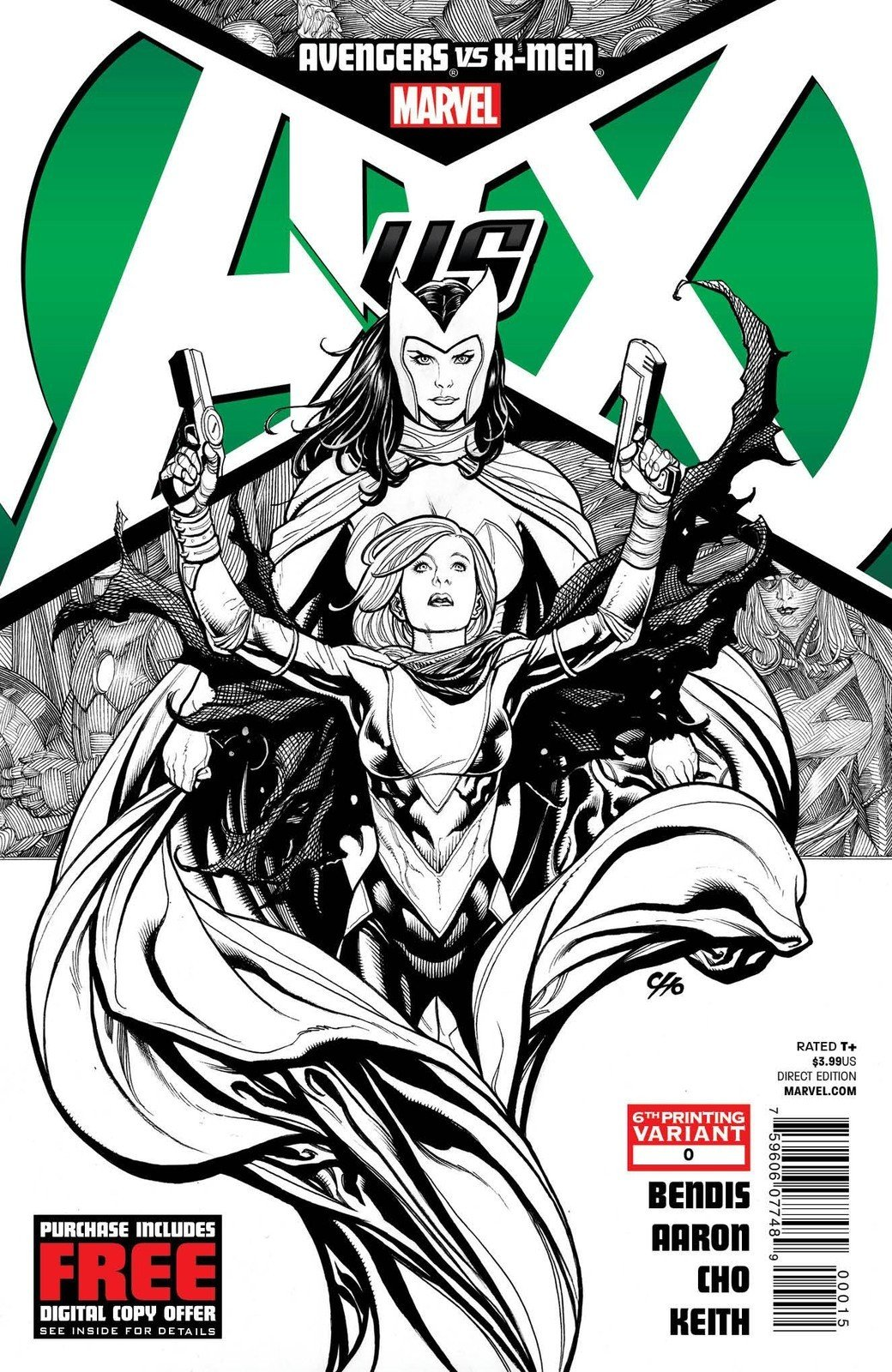 "Read Online Avengers Vs X-men #0 ""6th Print Variant- The Return of the Scarlet Witch"" ebook"