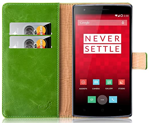 205 opinioni per Cover OnePlus One, JAMMYLIZARD Custodia Retro Wallet a Libro in Pelle per