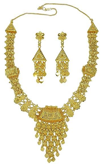 619ec4a91e107 Banithani Indian Traditional Gold Plated 2PC Imitation Necklace Set ...