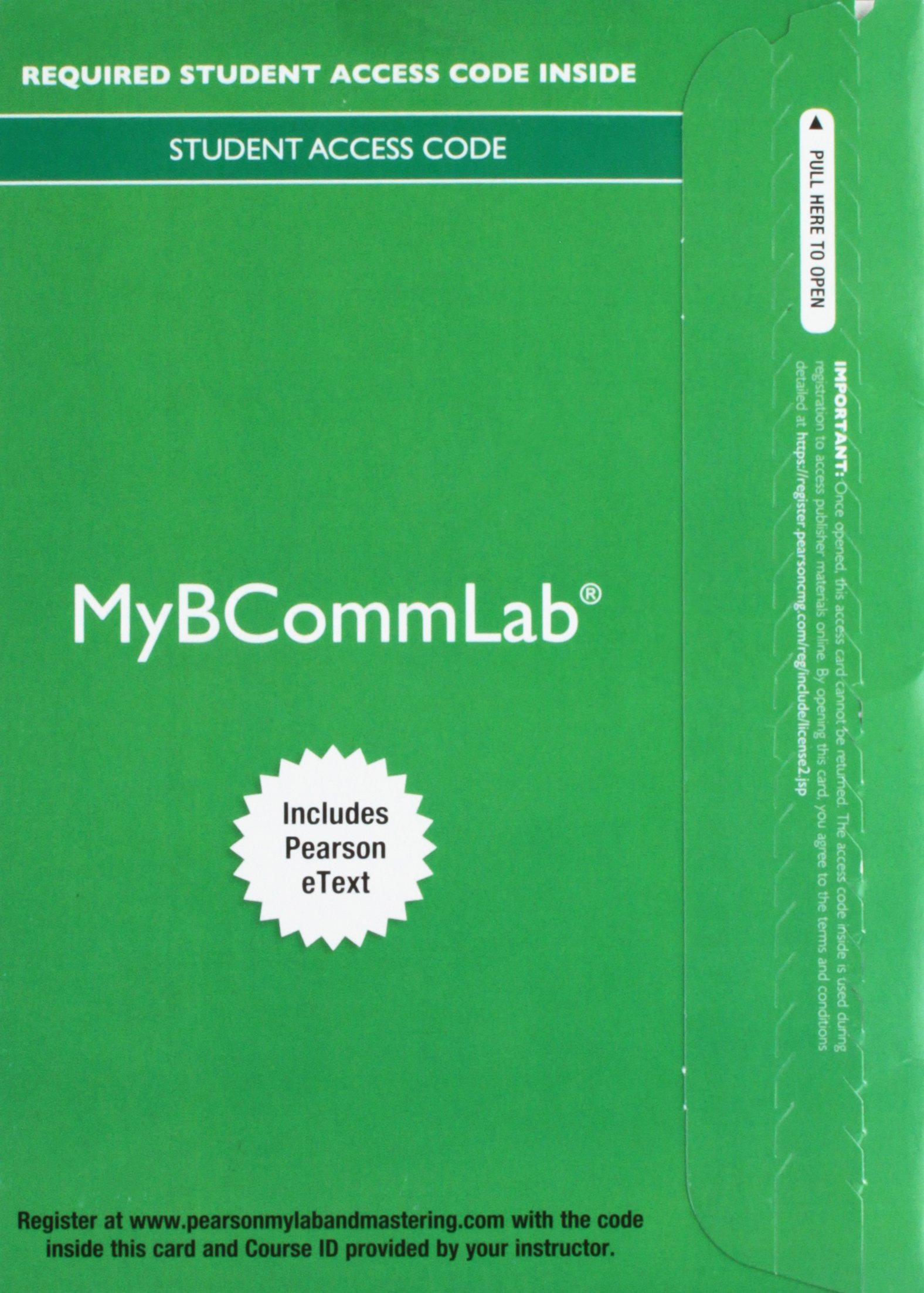 Download MyBcommLab with Pearson eText--Component Access Card (1 semester) (2017) ebook