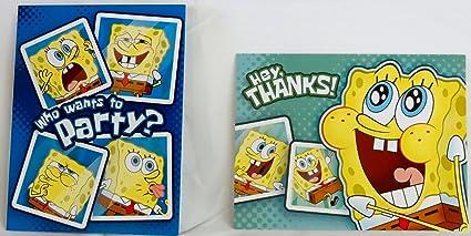 Amazon Com Spongebob Squarepants Birthday Invitations W Envelopes