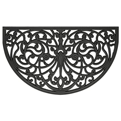 Achim Home Furnishings WRM1830IW6 Ironworks Wrought Iron Rubber Door Mat,  18 By 30u0026quot;
