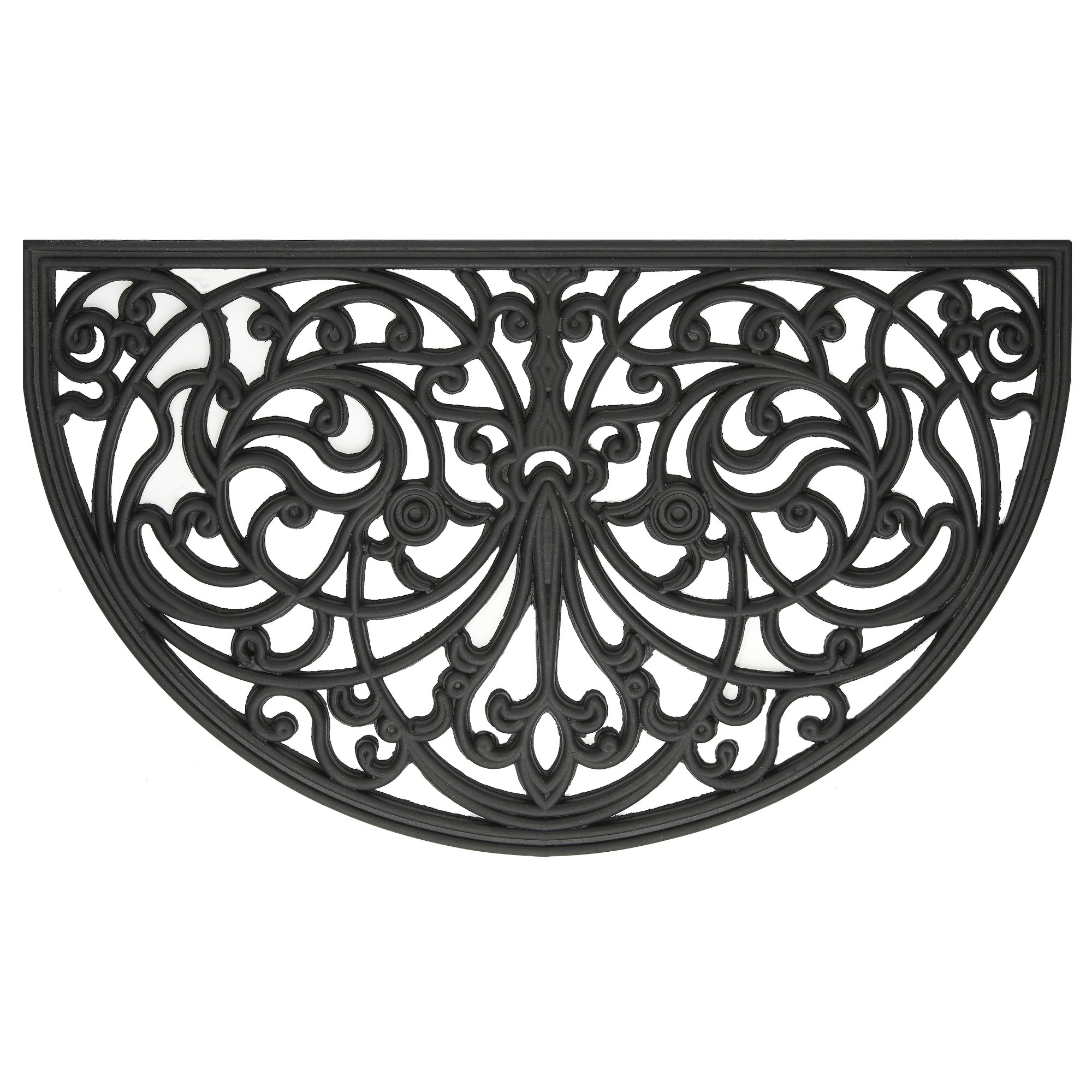Achim Home Furnishings WRM1830IW6 Ironworks Wrought Iron Rubber Door Mat, 18 by 30''