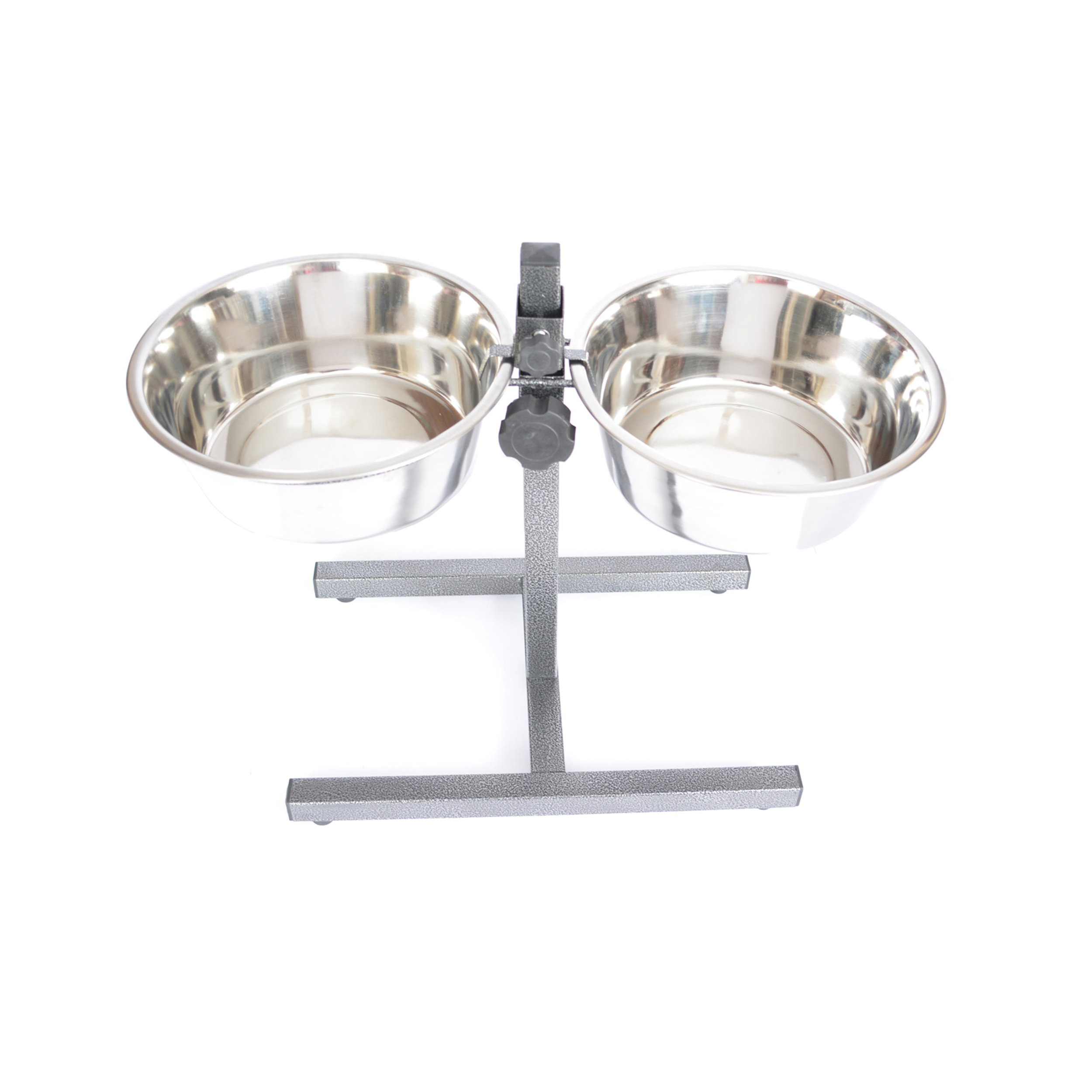 Iconic Pet 12-Cup Adjustable Stainless Steel Pet Double Diner, 96-Ounce by Iconic Pet (Image #2)