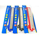 2 Pk, Portable 3- Hole Punch, Colors may vary (Blue,Black,Red)