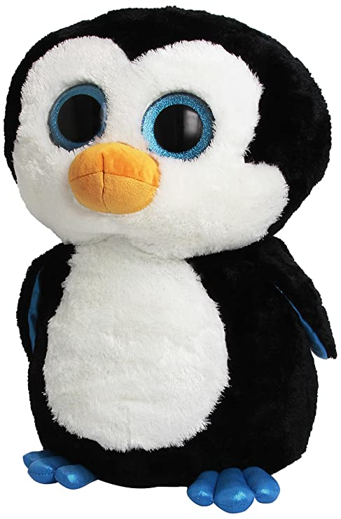 Amazon Com Ty Beanie Boos Waddles Penguin 16 Plush Large Toys