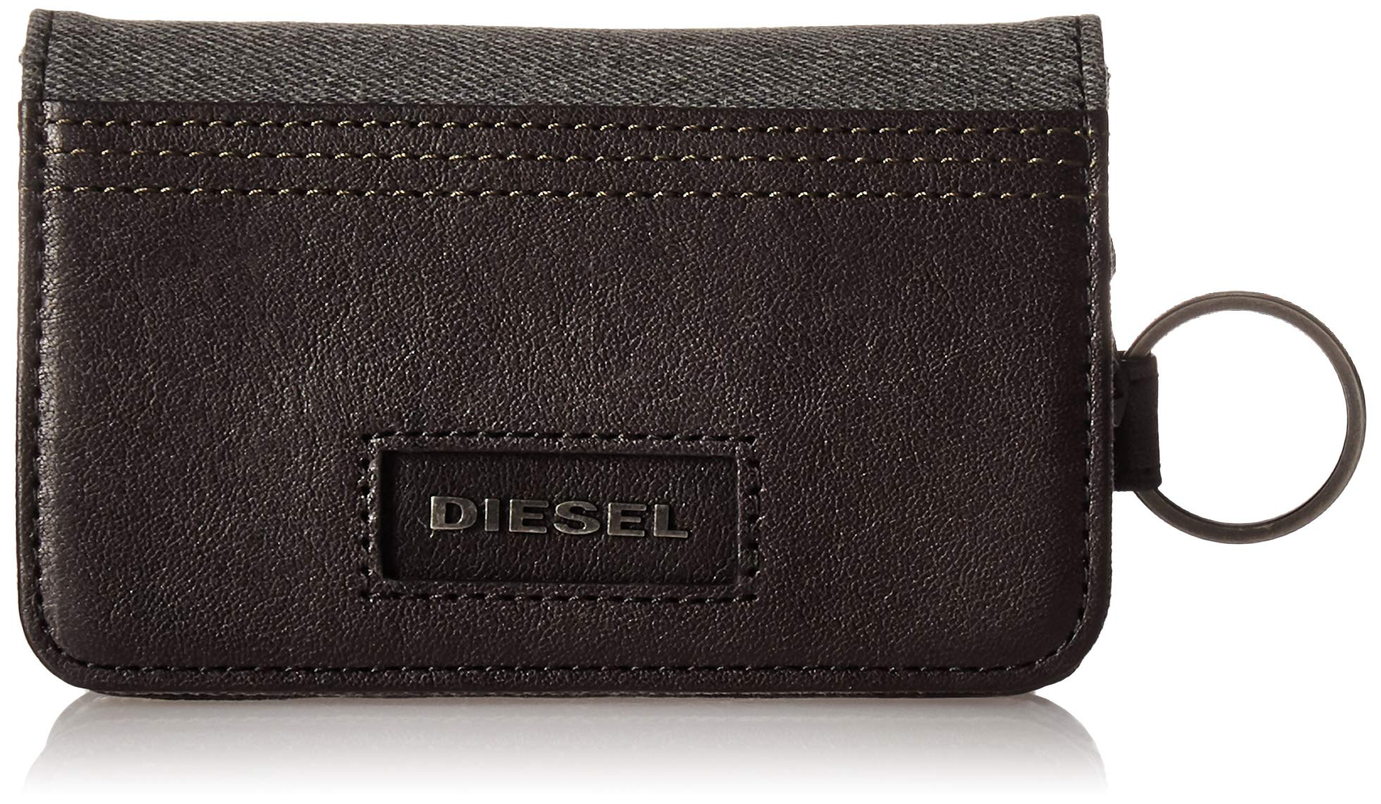 Diesel Men's D-Side D-Key Wallet & Key Holder, grey denim/black, One Size