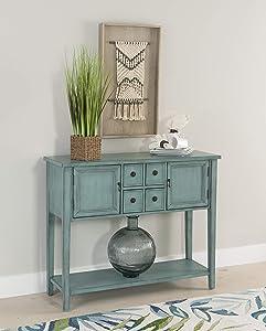 Powell Furniture Duplin Console, Small, Blue
