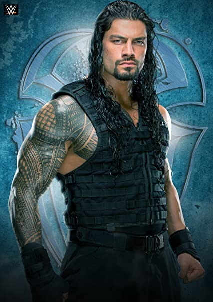 100yellow paper wwe roman reigns poster with matte finish 12x18