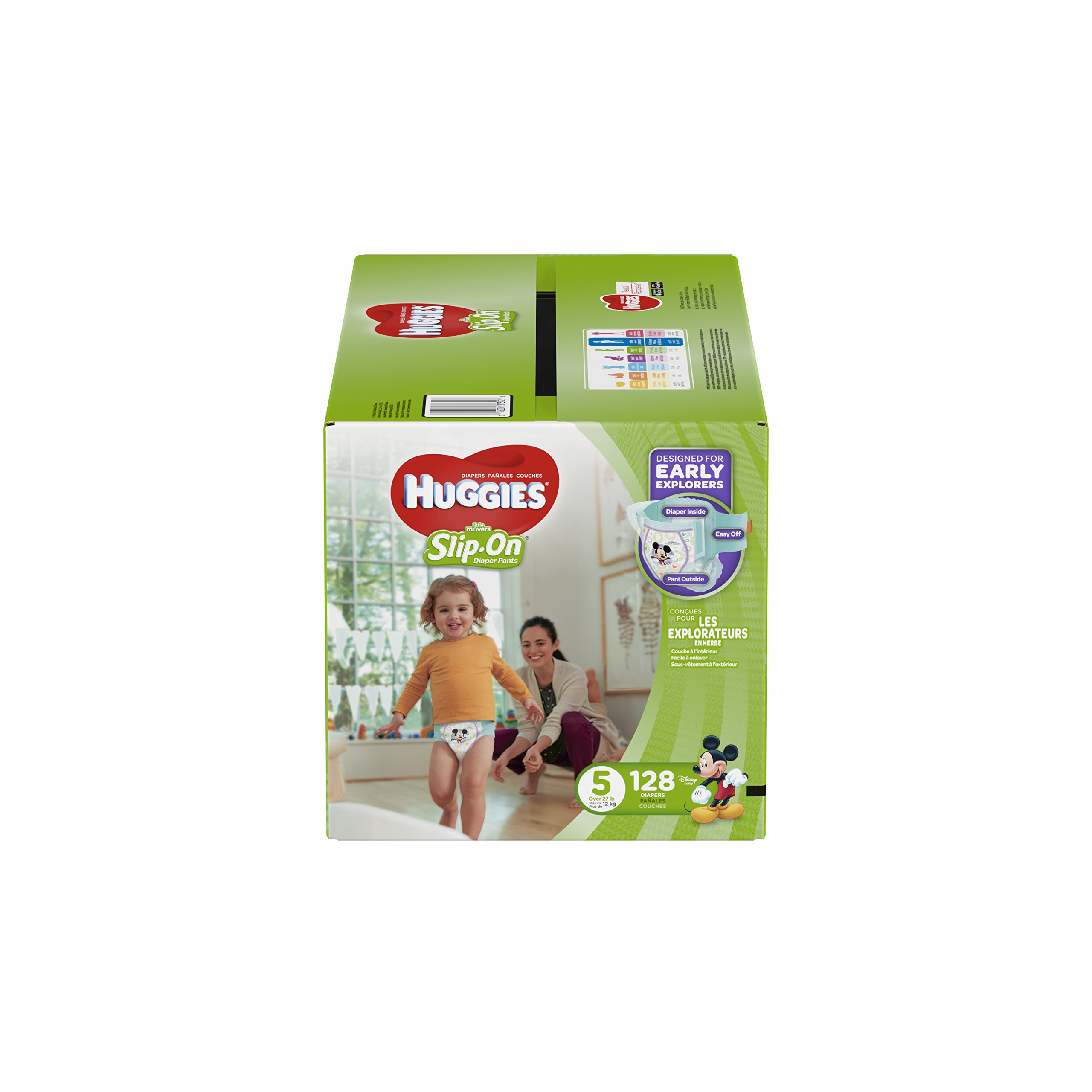 HUGGIES Little Movers Slip On Diaper Pants with Easy Pull On Style and Removal Tabs,