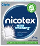 Cipla Nicotex Nicotine Teeth Whitening Gum -TW 2 mg (9x10 Pieces, Mint)