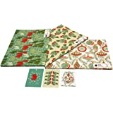 re-wrapped – Bundle 1 – Palline di natale, foreste & folk Robins – eco friendly riciclata carta da regalo – da incastro Kate Heiss Re-wrapped - Christmas Bundle 1 - 3 sheets / 3 tags - Baubles, Forests & Folk Robins - eco friendly recycled gift wrap wrapping paper - by UK designer Kate Heiss