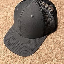 c21a8ed0611 Amazon.com  Richardson Black 112 Mesh Back Trucker Cap Snapback Hat ...