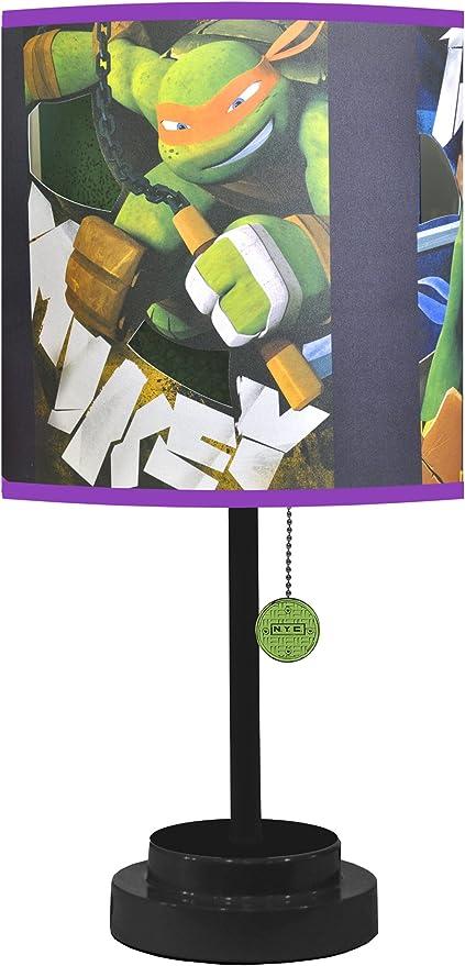 Amazon.com: Nickelodeon TMNT lámpara de mesa con Die Cut ...