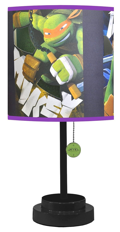 Nickelodeon TMNT Table Lamp with Die Cut Lamp Shade
