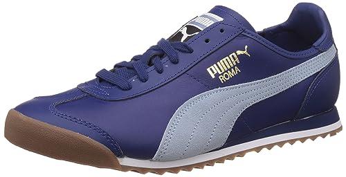 943f3acd7367c0 Puma Men s Roma Og 80S Twilight Blue and Blue Fog Leather Sneakers - 10 UK