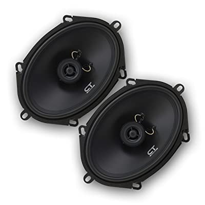 CT Sounds 5x7 Inch Coaxial Car Speakers (Pair), 2 Way Full Range, 30W (RMS) | 60W Max Power Per Speaker, Easy Mounting, 4 Ohm Impedance - Bio 5x7: Home Audio & Theater