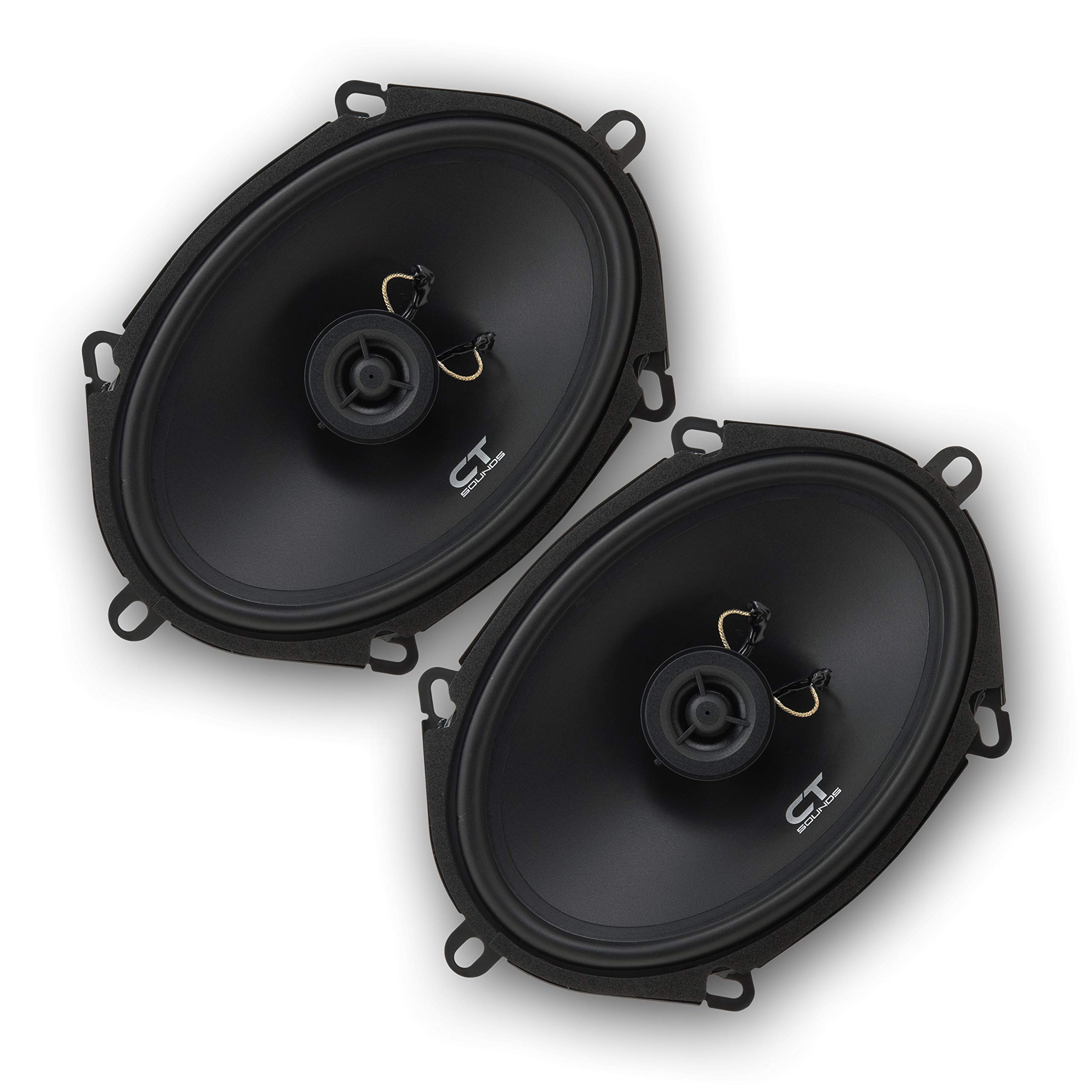 CT Sounds BIO-5X7-COX 5x7 Inch Coaxial Car Speakers, 120 Watts Max, Pair