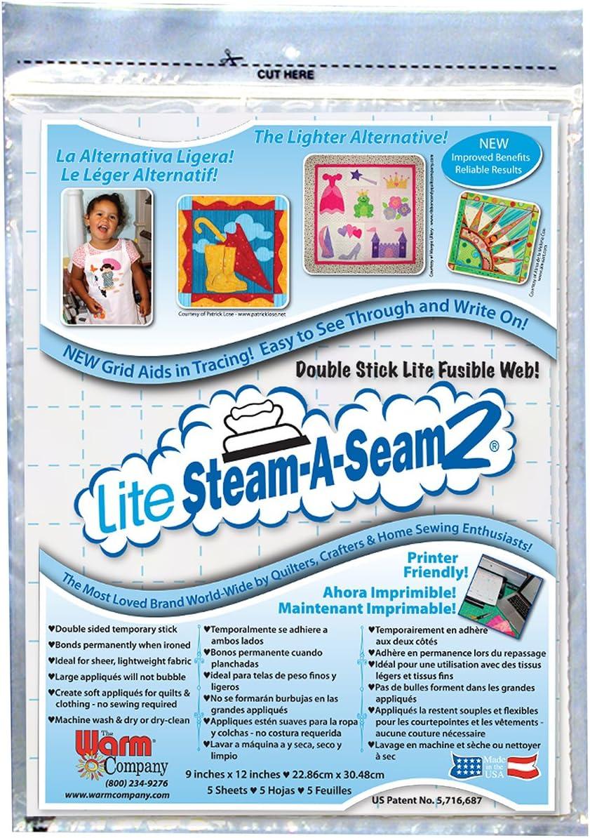 "MI Warm Company Lite Steam-A-Seam 2 Fusible Web Tape-.5/""X20yd FOB"
