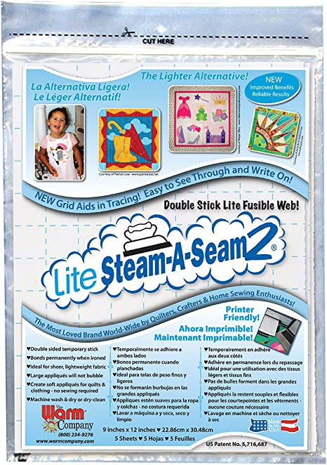 "Warm Company Steam A Seam 2 Fusible Web 24/"" Wide 3-Yard Roll"