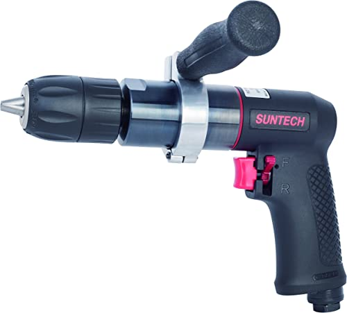 SUNTECH SM-77-7500-02 1 2 Reversible Air Drill, 400RPM, Standard Keyless Chuck, Composite Motor Housing, Variable Speed Trigger, 0.5HP