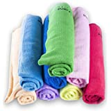 EcoFriend Supplies Microfiber Cleaning Cloth 8 Pack (16 x 24 inch) Premium Machine Washable & Highly Absorbent, LINT and Streak Free