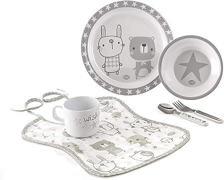 Apto para el microondas,Apto para lavavajillas,Ideal para regalo,Bonito diseño en tonos grises,Uso a