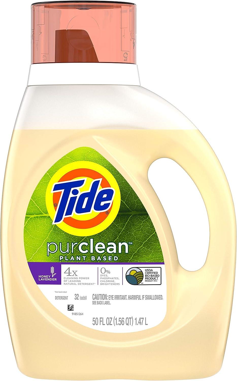Tide Purclean Plant-based Laundry Detergent, Honey Lavender Scent, 50 Fl Oz