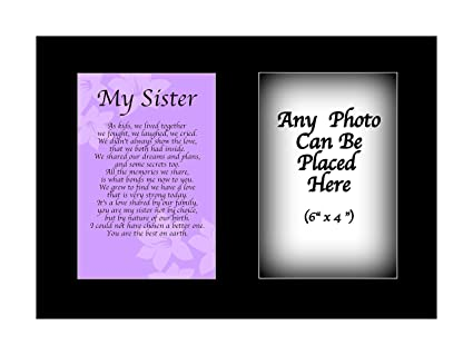 Print City Poems My Sister Poem Personalised With ANY PHOTO Christmas Xmas Gift Birthday Present Amazoncouk Kitchen Home