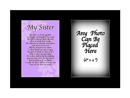 Mi hermana poema personalizable con cualquier foto de ...