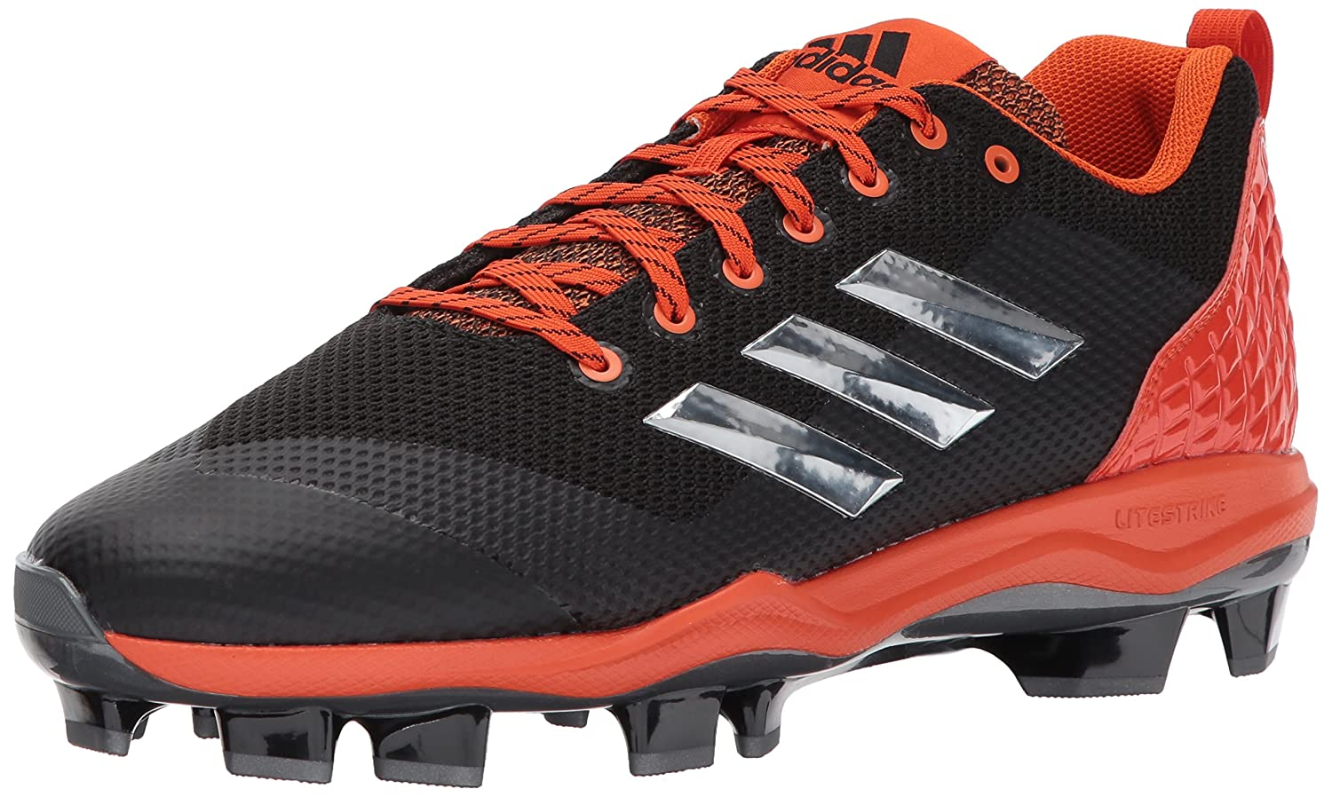 adidas Performance メンズ PowerAlley 5 TPU B01N0T3E1E 14 Medium US|Black/Metallic Silver/Collegiate Orange Black/Metallic Silver/Collegiate Orange 14 Medium US