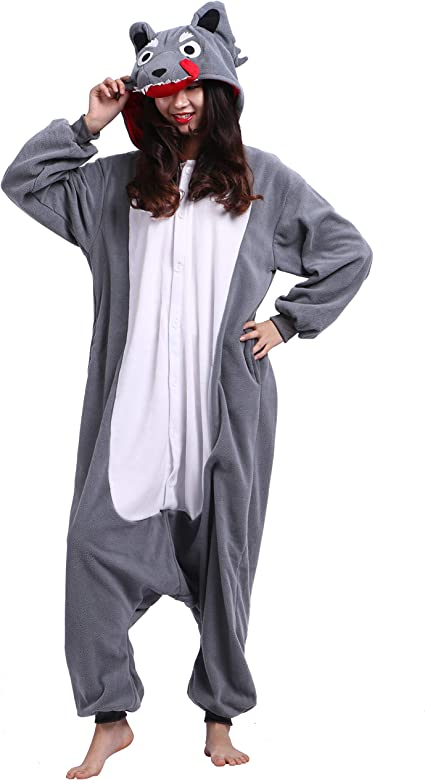 Kigurumi Pijama Animal Entero Unisex para Adultos con Capucha ...