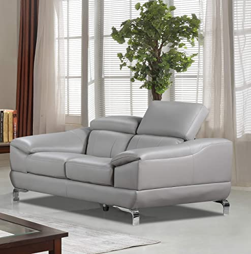 Cortesi Home Vegas Sofas, 66 Loveseat, Grey