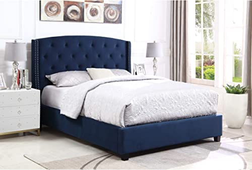 Overstock Summit Wingback Tufted Upholstered Bed