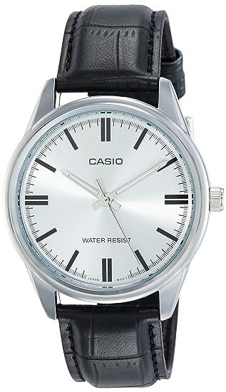 Casio Reloj Analógico para Hombre de Cuarzo con Correa en Cuero MTP-V005L-7: Amazon.es: Relojes