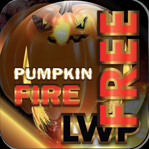 Pumpkin Fire LWP Free: HD+ Halloween Live Wallpaper -