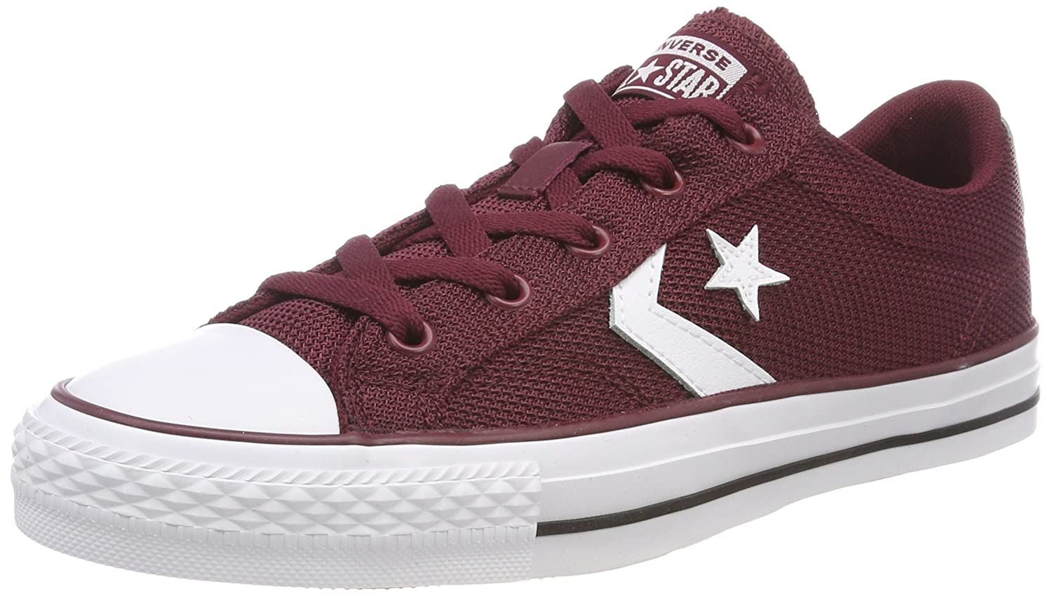 Converse Unisex-Erwachsene Star Player OX Dark Burgundy/White Sneaker  48 EU|Rot (Dark Burgundy/White 628)