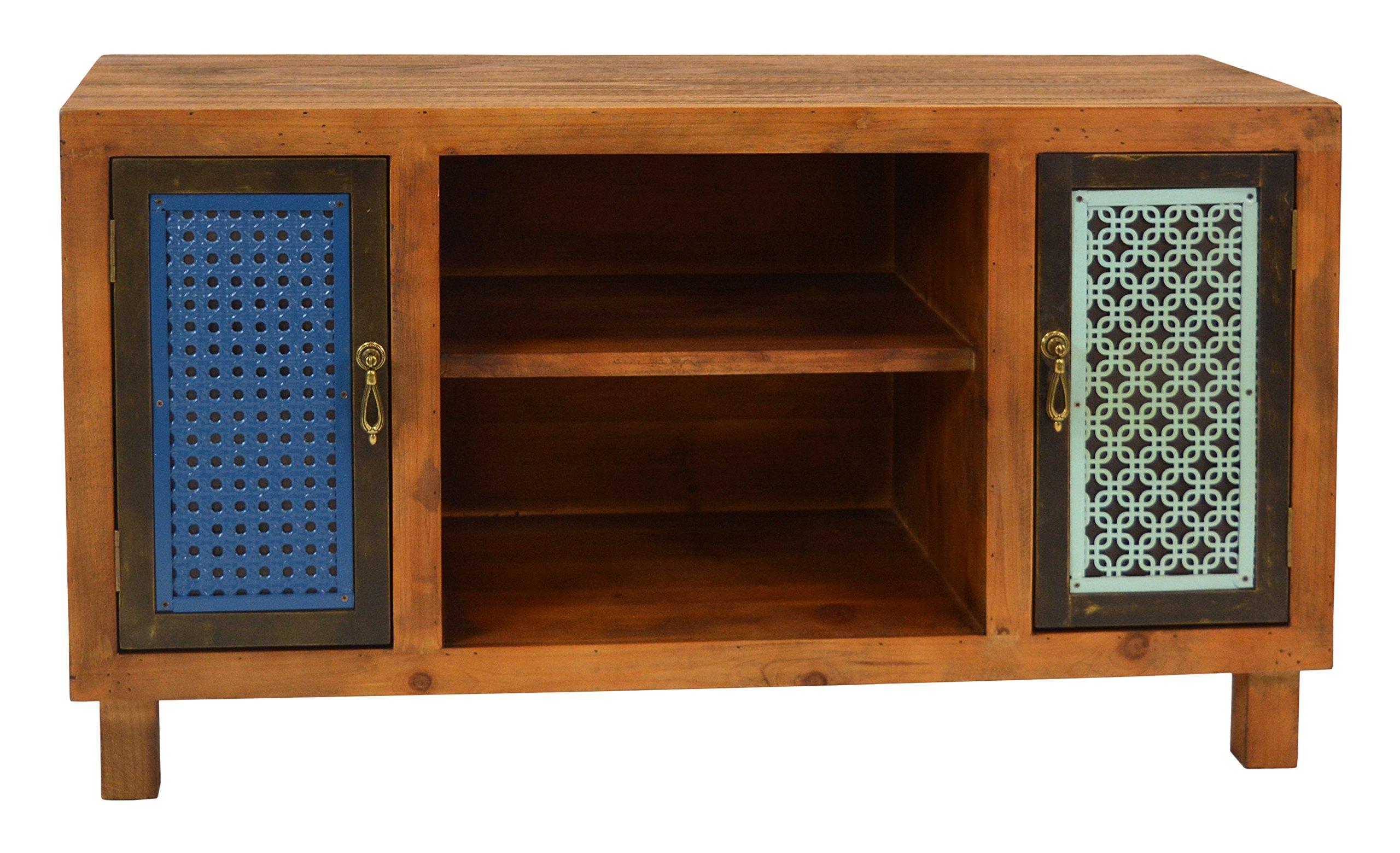 Großartig Hifi Regal Holz Foto Von Ts-ideen Tv-bank Lowboard Sideboard Kommode Hifi-schrank Flur